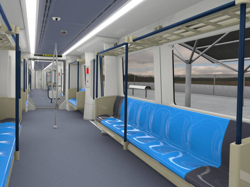 Global Manufacturing Solutions Gibela Prasa Train Interior